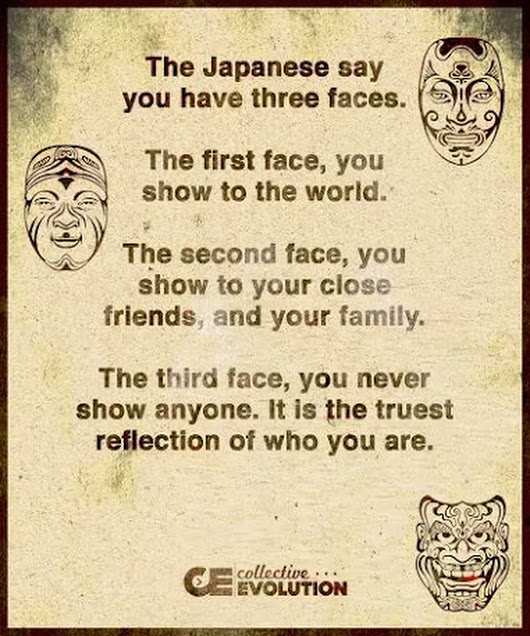 Japanese saying about faces